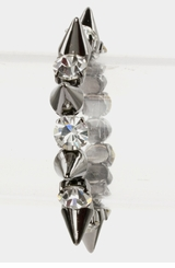 Silver Spike and Rhinestone Bracelet - New Arrival