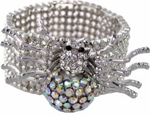 Spider Silver Stretch Bracelet - Women's Jewelry