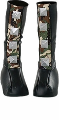 Spiked Camoflaged Boot Tops