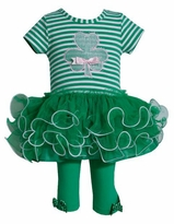 St.Patrick Shamrock Applique Tulle Tutu Legging Set - SOLD OUT