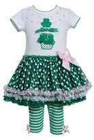 ST.Patricks Shamrock  Cupcake Applique Mesh Tutu Legging Set