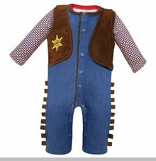 Stephan Baby Baby Boys Cowboy Outfit