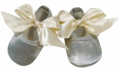 Baby Girls Gray Fabric Shoes