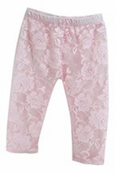 Baby Girls Pink Lace Leggings