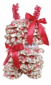 Stephan Baby Baby Girls Rose Flapper Outfit