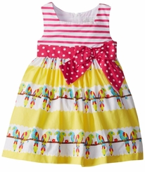 Girls Parrot Print Sundress FINAL SALE  5-6X