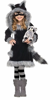 Sweet Raccoon Toddler or Girls Halloween Costume