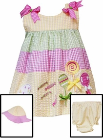 Taffy and Lollipops Infant Sundress Set with HAT -  SOLD OUT