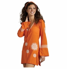 Tangerine Embroidered Paisley Cover Up by Mud Pie SOLD OUT