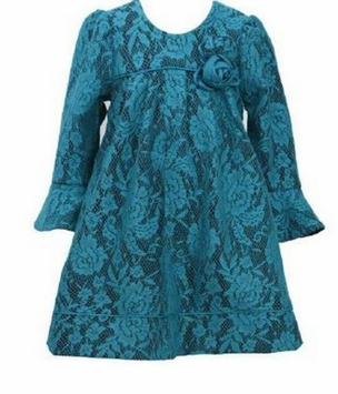 Teal Lace Float Dress - Special Occasion Dress