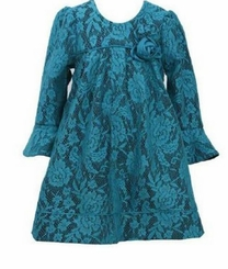 Teal Lace Float Dress - Special Occasion Dress - sold out