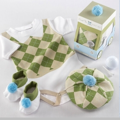 Three Piece Golf Layette Set