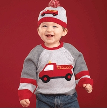Toddler Boys Fire Truck Sweater (Sweater Only)
