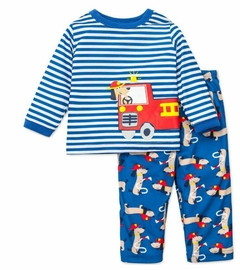 Toddler Boys Pajamas : Fire Truck Rescue Dog - OUT OF STOCK