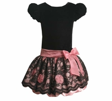Girls Black Dress Lace