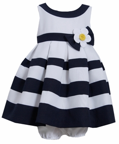 Toddler Girls Nautical Banding Dress Easter Dress