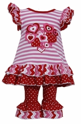 Toddler Little Girls Valentine's Day Heart Pant Set