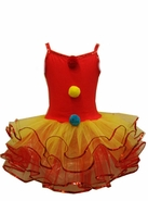 Toddler or Girls Clown Costume :  Ballerina Clown Tutu Dress