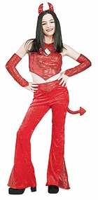 Tween Costume - Red Sequin Devil Costume