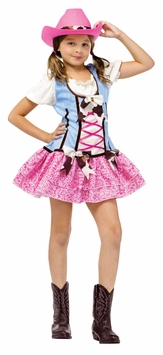 Girl's Cowgirl Costume : Girl's Rodeo Sweetie Halloween Costume