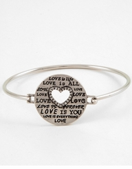 Valentine's Day Bracelet - Silver Love is All
