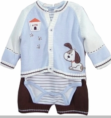 Vitamins Baby - Puppy Sweater Boys Gift Set   sold out