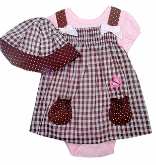 Vitamins Baby Smocked Dress with Sunhat