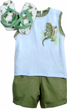 Vitamins Boys Shorts , Lizard Tee and Flip Flops - SOLD OUT