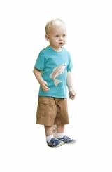 Wally & Willie Little Boys Bass Tee Chestnut Cargo Short Set
