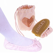 WHITE Ballet Slippers - (Color available is White not pink pictured)