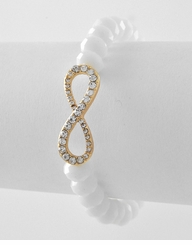 White Infinity Bracelet - out of stock