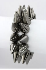 Women's Bracelet  - Trendy Gunmetal Stretch Bracelet   ONE LEFT!