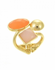 Women's Coral Hinge Ring