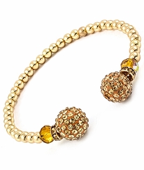 Women's Gold Beaded Cuff Bracelet