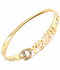 "Women's Gold Tone ""Dream"" Bangle Bracelet"