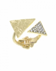 Women's Gold Triangle Hinge Ring