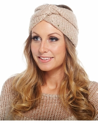 Women's Knit Earwarmer : Mud Pie Andie Sequin Turban Choose Color