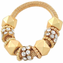 Women's Matte Gold Tone Stretch Mesh Bracelet