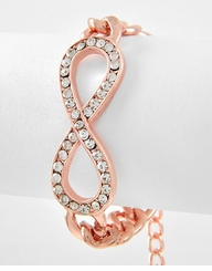 Women's Rose Gold Tone Infinity Link Bracelet  out of stock