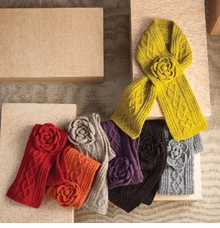 Women's Scarves - Cable Sweater Knit Scarf - CHOOSE COLOR
