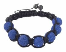 Women's Shamballah Royal Blue Sparkle Bead Bracelet