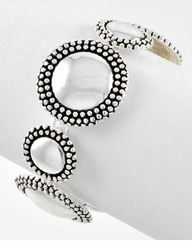 Women's Silver Beaded Circles Bracelet