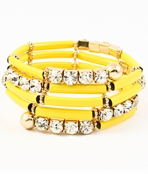 Women's Yellow Spiral Bracelet