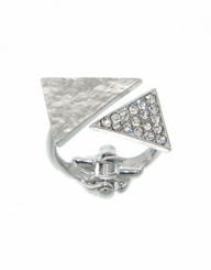 Womne's Silver Triangle Hinge Ring