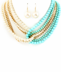 Wrap Necklace and Earring Set