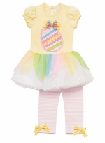 Yellow Bodice Egg Applique Tutu Legging Set