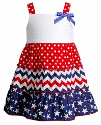 Youngland Little Girls 4th of July Sundress