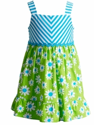 Youngland Little Girls Stripe Daisy Sundress