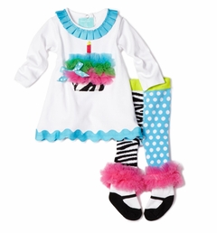 Zebra Cupcake Tunic and Tight Set LAST ONE