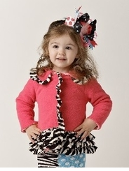 Mud Pie  Newborn Zebra Ruffle Coat -  0-6 months LAST ONE Final Sale